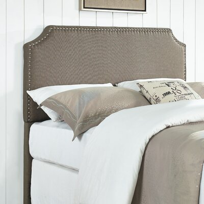 Luna Nail Trim Upholstered Panel Headboard Size: Full / Queen, Upholstery: Pebble Stone