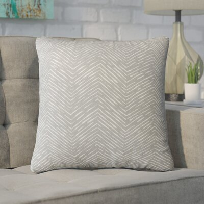 Alcazar 100% Cotton Throw Pillow Color: Storm