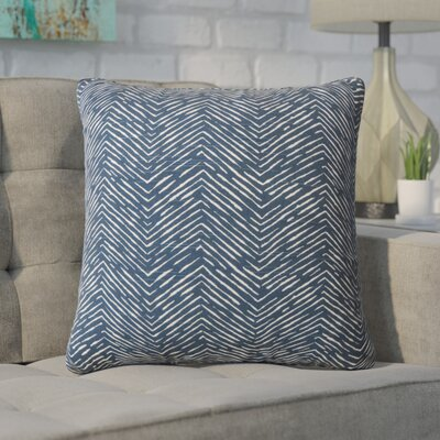 Alcazar 100% Cotton Throw Pillow Color: Navy Blue