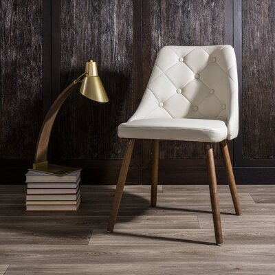 Baize Side Chair Upholstery: Cream
