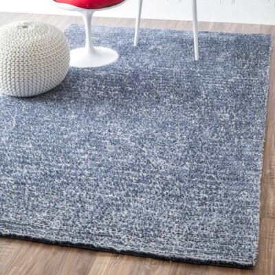 Magno Hand-Tufted Blue Area Rug Rug Size: Rectangle 5 x 8