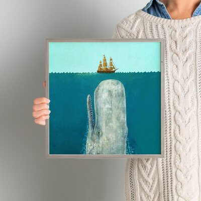 'The Whale' Framed Graphic Art Size: 12