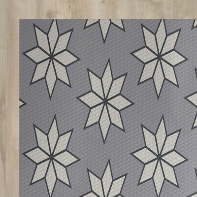 Christmass Geometric Print Gray Indoor/Outdoor Area Rug Rug Size: 5 x 7