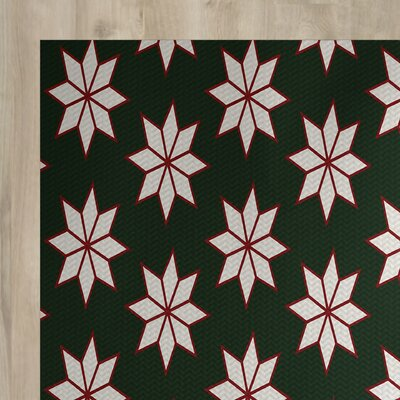 Christmass Green Indoor/Outdoor Area Rug Rug Size: 4' x 6'