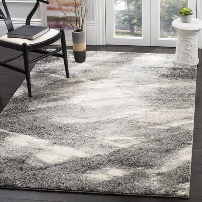 Vulpecula Gray and Ivory Area Rug Rug Size: 5 x 8