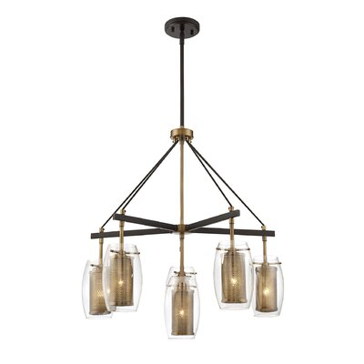 Depp 6-Light Shaded Chandelier