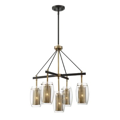 Kuehn 5-Light Shaded Chandelier