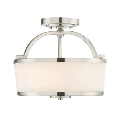 Camacho 2-Light Semi Flush Mount Finish: Satin Nickel
