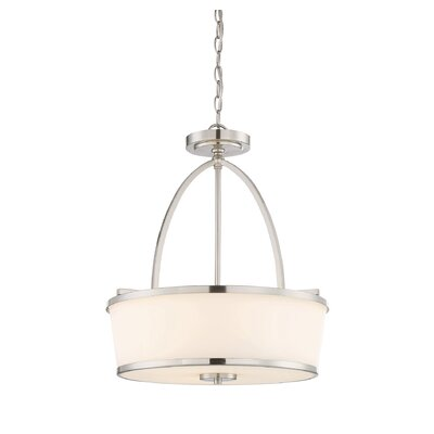 Camacho 3-Light Drum Pendant Finish: Satin Nickel