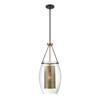 Depp 1-Light Elliptical Shade Mini Pendant