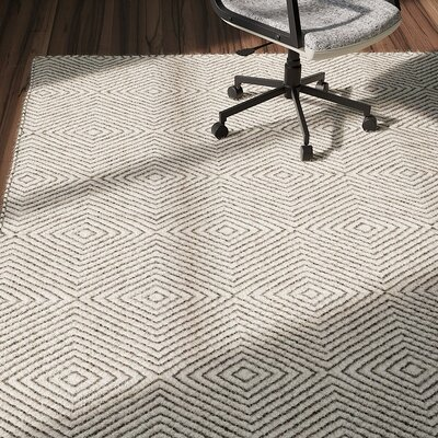 Marcelo Hand Woven Ivory Area Rug Rug Size: Rectangle 6' x 9'