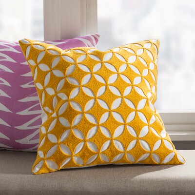 Baur Perimeter 100% Cotton Throw Pillow Cover Size: 18 H x 18 W x 1 D, Color: YellowNeutral