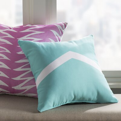 Uselton Throw Pillow Size: 16 H x 16 W, Color: Aqua