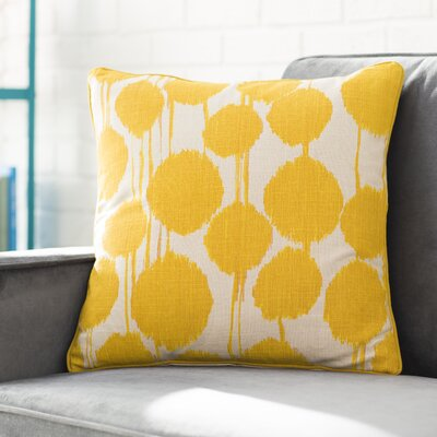 Agee 100% Cotton Throw Pillow Color: Saffron