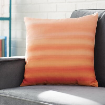Aguero Ombre Watercolors Throw Pillow Size: 16 H x 16 W, Color: Tangerine