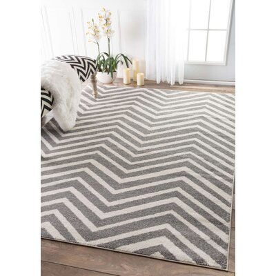 Nolting Gray/White Area Rug Rug Size: Rectangle 710 x 112