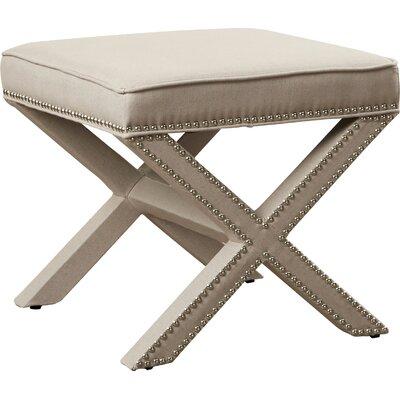 Leia Ottoman Upholstery: Taupe