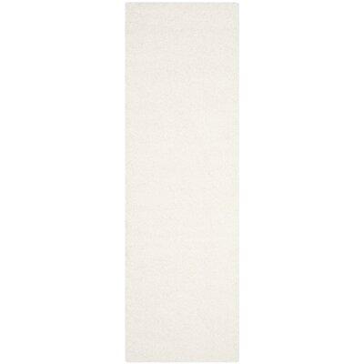 Brickner White Area Rug Rug Size: Runner 23 x 7