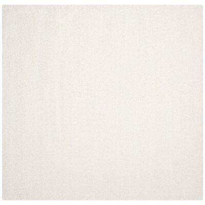 Brickner White Area Rug Rug Size: Square 67 x 67