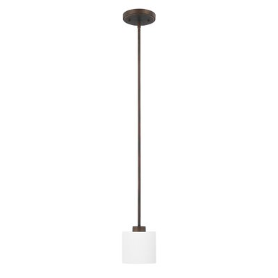 Carswell 1-Light Mini Pendant Finish: Burnished Bronze