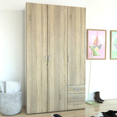 Avangeline 3 Drawer and 3 Door Armoire Finish: Oak