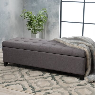Morrisey Storage Ottoman Upholstery: Gray