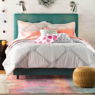 Leilani Upholstered Panel Bed Size: Queen, Color: Linen - Laguna