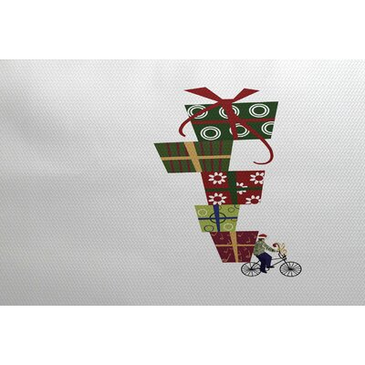 Christmass Gray Indoor/Outdoor Area Rug Rug Size: 2' x 3'