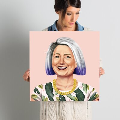 'Hillary Clinton' Graphic Art on Wrapped Canvas ESTN7738 40501962