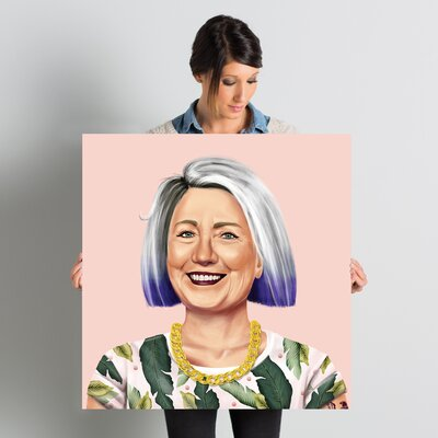 'Hillary Clinton' Graphic Art on Wrapped Canvas ESTN7738 40501963
