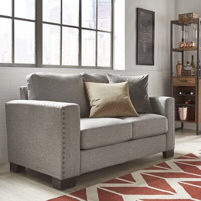 Blackston Nailhead Trim Loveseat Upholstery: Gray