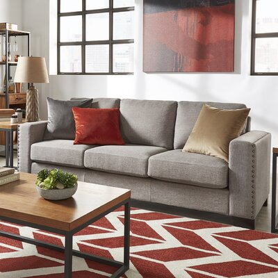 Blackston Nailhead Trim Sofa Upholstery: Gray