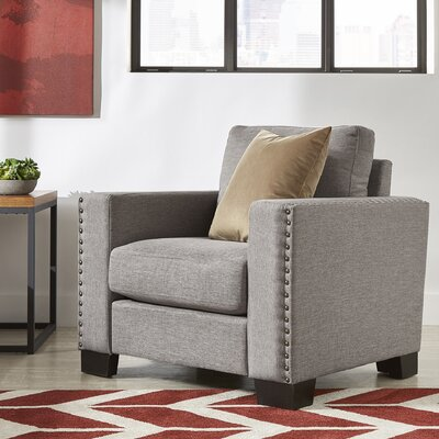 Blackston Nailhead Trim Armchair Upholstery: Gray