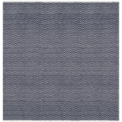 Arbuckle Cotton Navy Area Rug Rug Size: Square 4