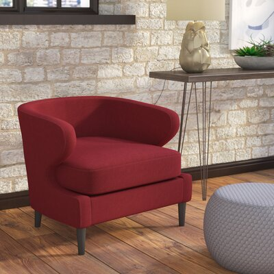 Daum Barrel Chair Upholstery: Deep Red