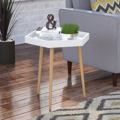 Camden End Table Finish: White