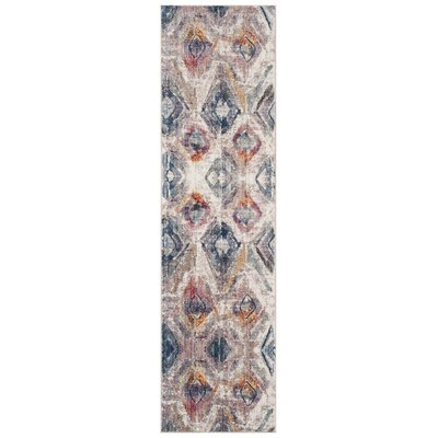 Newport Lavender/Light Gray Area Rug Rug Size: Runner 23 x 8