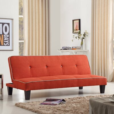 Raskin Sleeper Sofa Upholstery Color: Orange