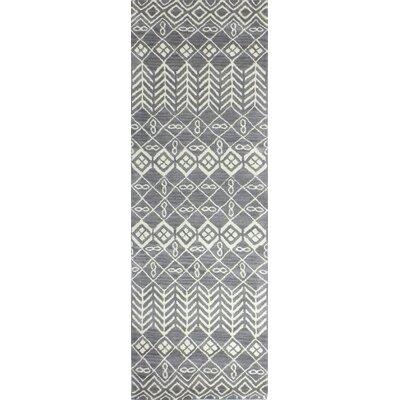 Bielecki Hand-Tufted Grey Area Rug Rug Size: Runner 26 x 8