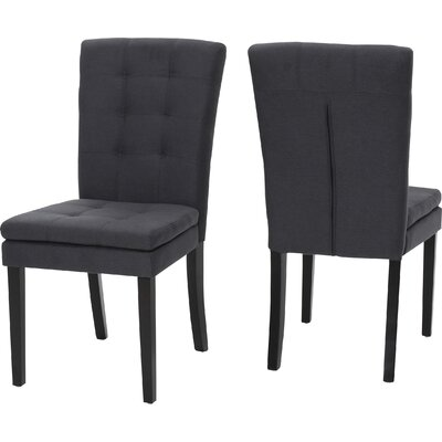 Cribb Fabric Side Chair Upholstery: Dark Charcoal