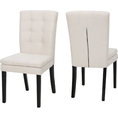 Cribb Fabric Upholstered Side Chair Upholstery: Beige