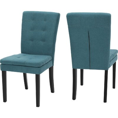 Cribb Fabric Upholstered Side Chair Upholstery: Dark Teal