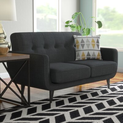 Despina Living Room Loveseat Upholstery: Charcoal