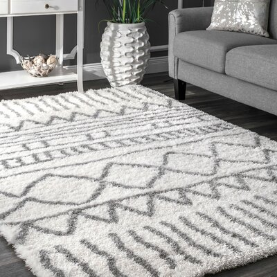 Norby Gray Area Rug Rug Size: 53 x 76