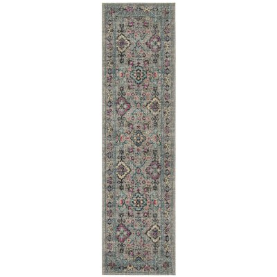 Bunn Gray/Blue Area Rug Rug Size: Runner 22 x 8