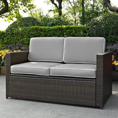 Belton Loveseat with Cushions Fabric: Grey