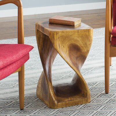 Haumea Twist End Table Size: 20 H x 12 W