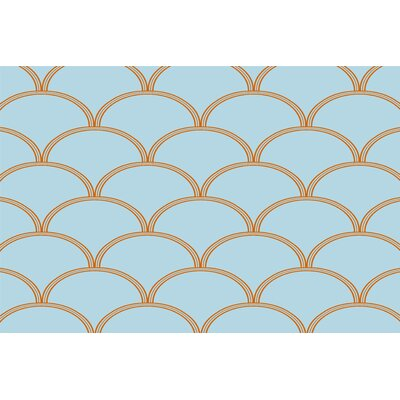 Brendan Blue/Orange Area Rug Rug Size: 2 x 3