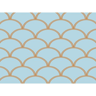 Archey Blue / Orange Area Rug Rug Size: 4 x 6