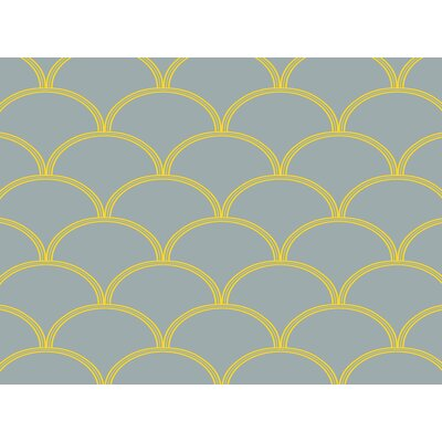 Brendan Coral/White Area Rug Rug Size: 4 x 6